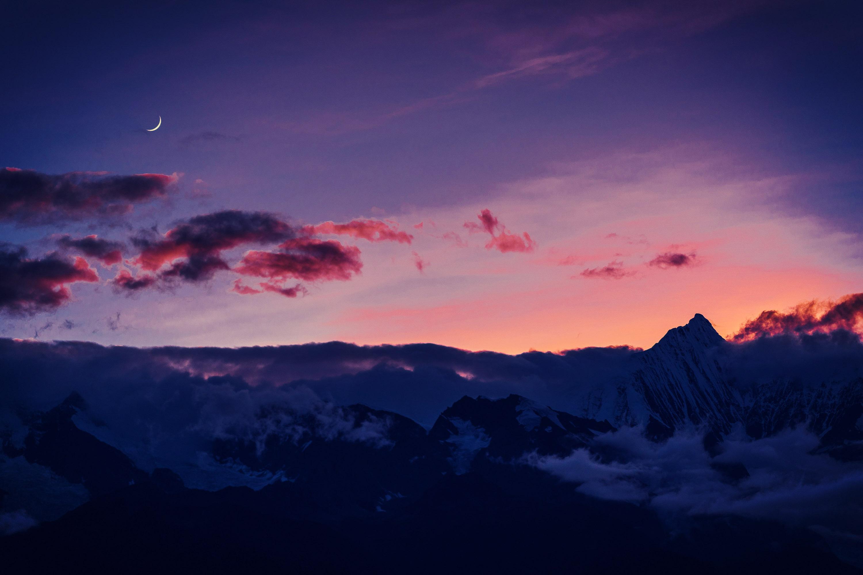 20200919-3000-15-山旁上弦月,坐等观星辰